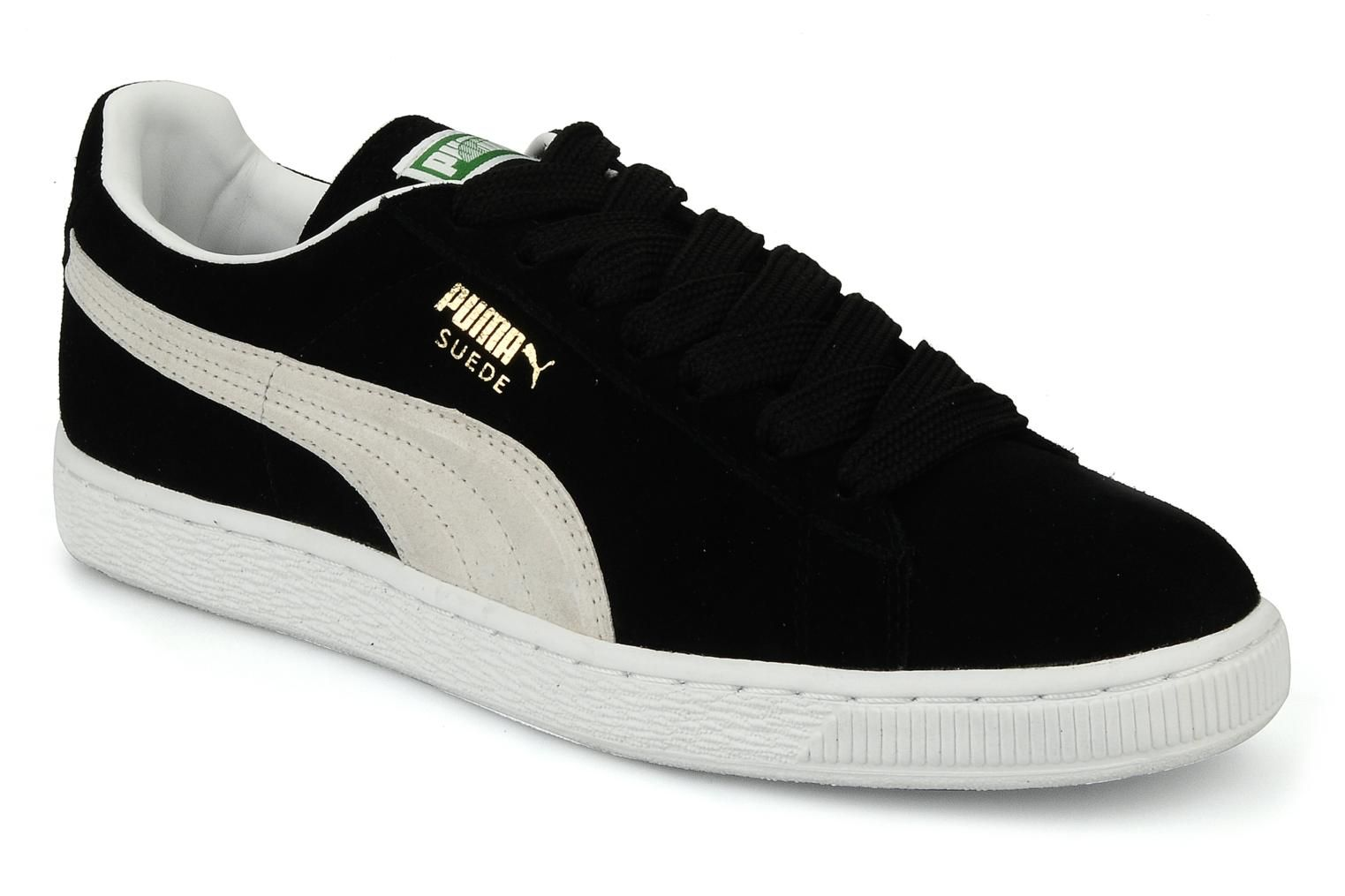 Puma Suede Classic + Trainers in Black at Sarenza.co.uk