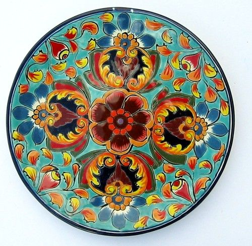 Mexican Pottery Decorative Wall Decor Plate 11 3 4 Diameter Mexican Pottery Mexican Tile Art Pottery