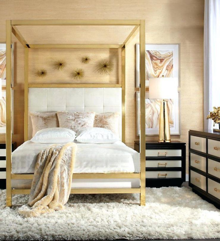 Endearing Gold Canopy Bed With Z Gallerie Bed Frame Inflikrco
