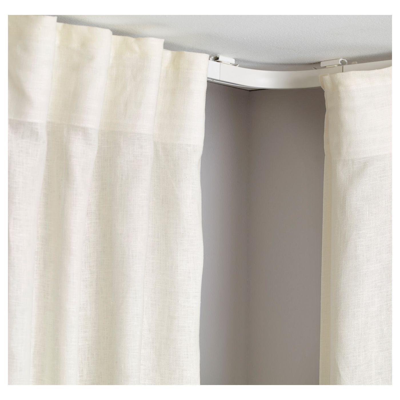 Vidga Corner Solution White Ikea Curtains Corner Curtain Rod Shower Curtain Rods