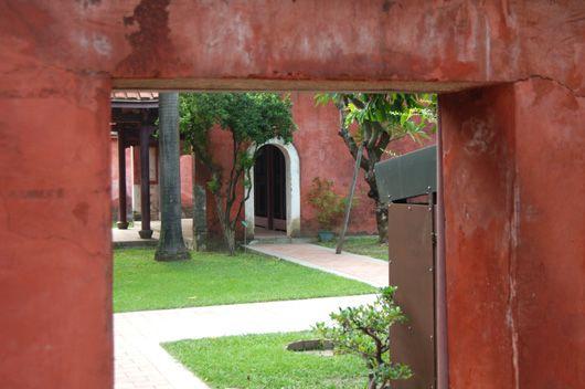 Taiwan, a glimpse of an inner courtyard.