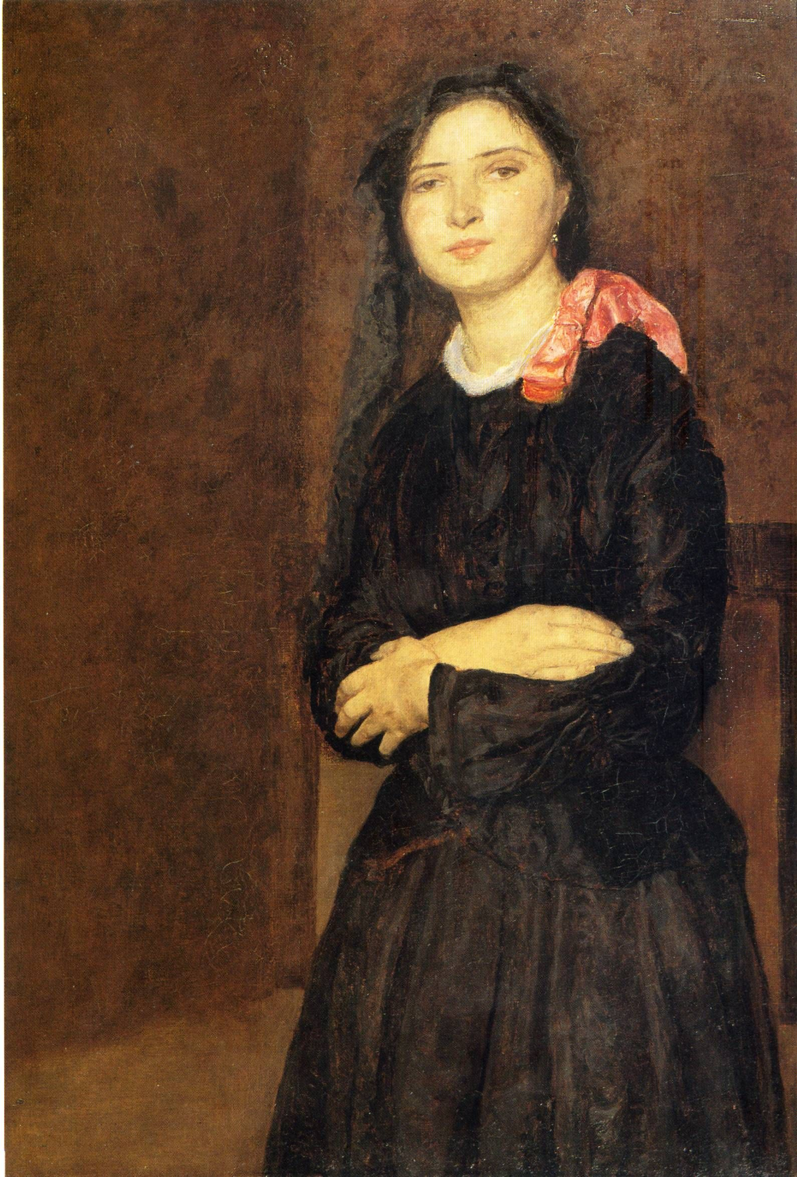 Dorelia In Black Dres - Gwen John. Artist Start Date .1903 1590 2348 Atelier