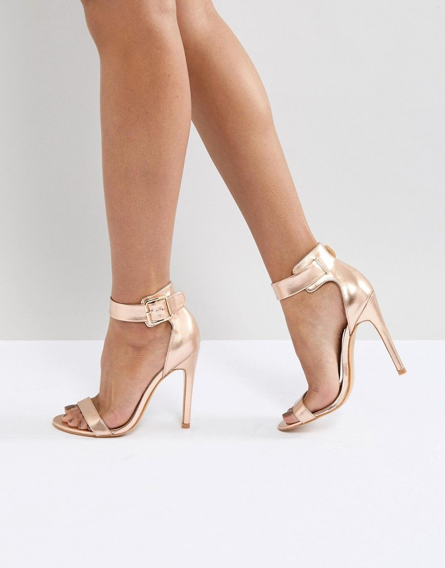 3ba992361 Truffle Collection Embellished Heeled Sandals - Copper