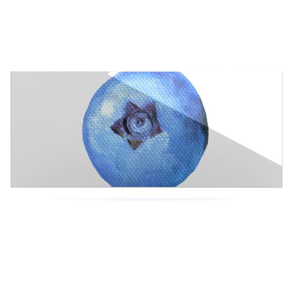 """Theresa Giolzetti """"Blueberry"""" Blue White Luxe Rectangle Panel"""