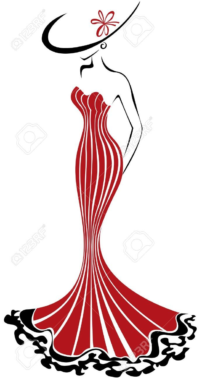 Stock Vector Fashion Illustration Vintage Fashion Art Illustration Vintage Hollywood Glamour