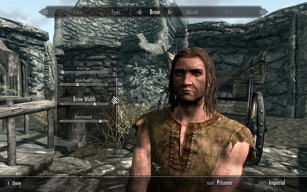 Skyrim character creation.