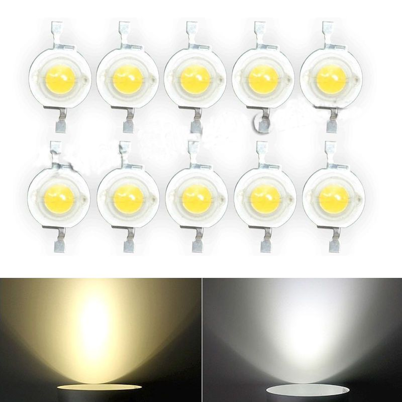 10 100 Pcs 3v Brand 1w White Warm White High Power Led Lamp Beads 1 Watt Ebay Power Led Led Light Strips Led Lamp
