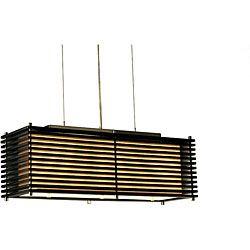 Nova Lighting 'Kimura' 3-light Wood Pendant Lamp | Overstock.com Shopping - Great Deals on Chandeliers & Pendants