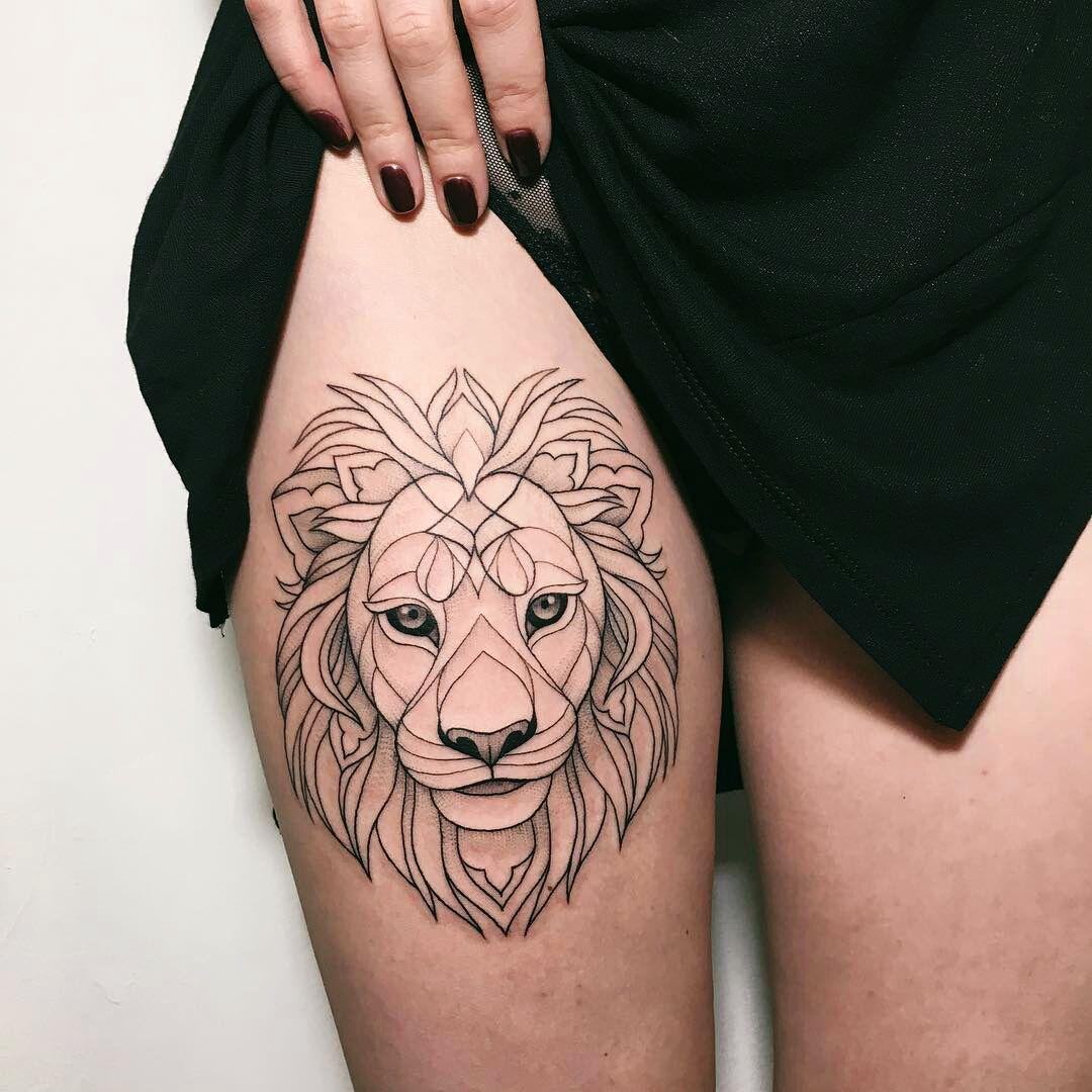 Tattoos And Pastel Geometric Lion Tattoo Tattoos For Guys Shoulder Tattoo