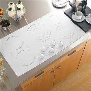 "White Kitchen Louisiana bosch 36"" electric cooktop white 
