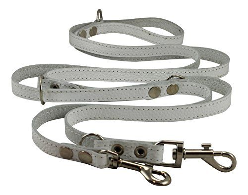 6Way European Multifunctional Leather Dog Leash Adjustable Schutzhund Lead 4994 Long 58 Wide 15 mm Pitbull Amstaff Boxer -- Click image for more details.