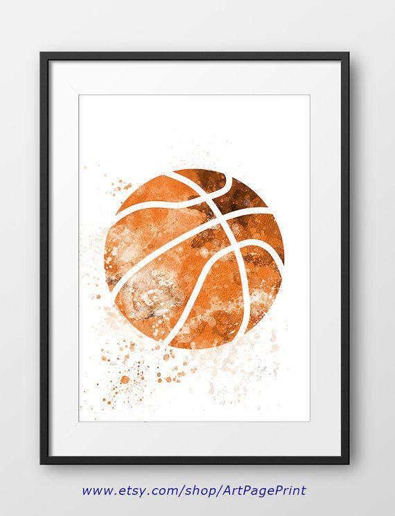 Basketball Print, Sport Wall Art, Sport, Basketball Nursery Decor ...