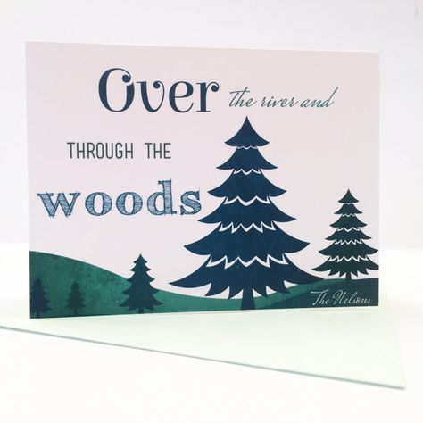 Send your season greetings over the river and through the woods with