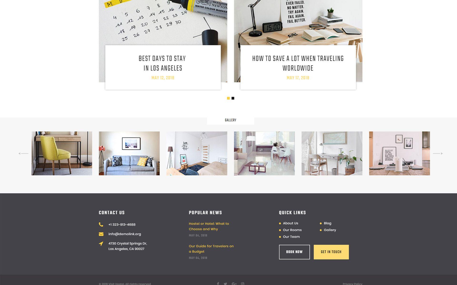 Hostel Travel Multipage HTML5 Website Template Html5