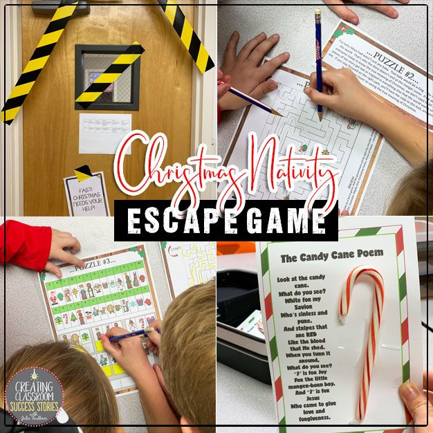 Escape Room Break Out Box Game, Christmas Nativity