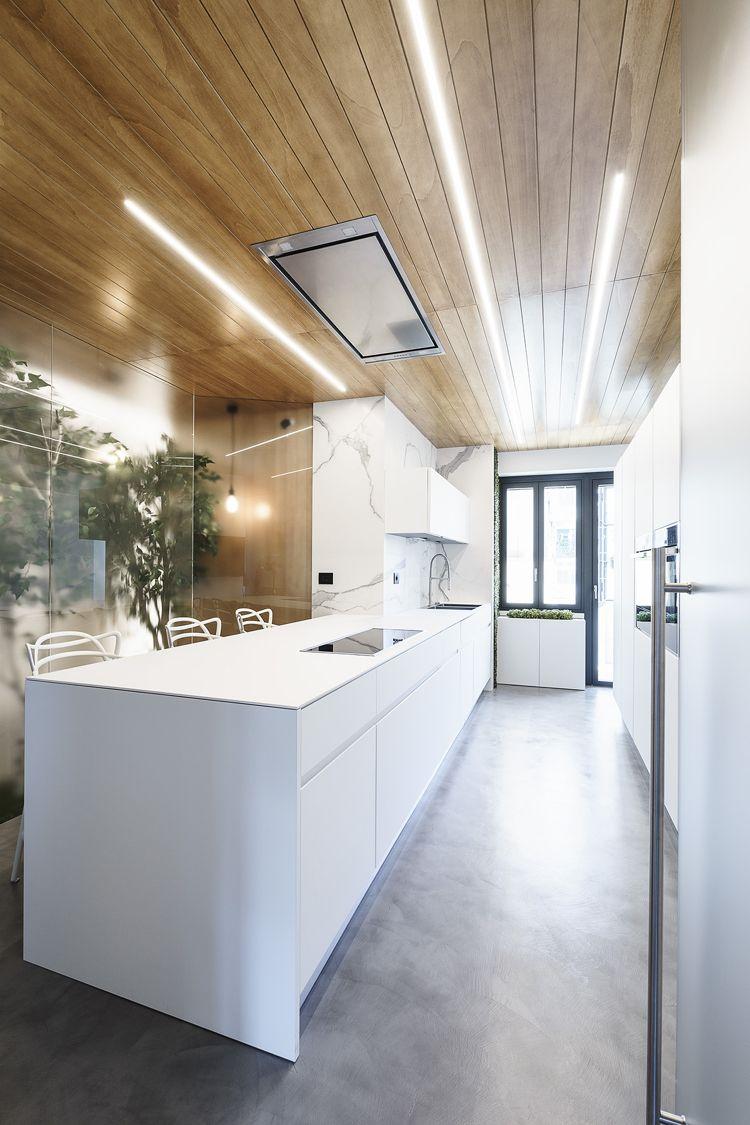 Minimalistische Küche mit Betonboden | Minimalistische Küche ...