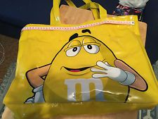 M&M's PVC Tote bag featuring Yellow M&M