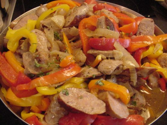 Linda's Fantabulous Italian Sausage and Peppers for a Crowd Recipe - Italian.Food.com