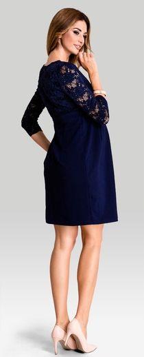 70f06987db3 Hypnotic navy lace top maternity smart nursing dress