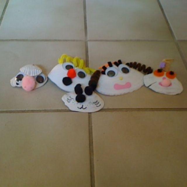 My homemade shell family!