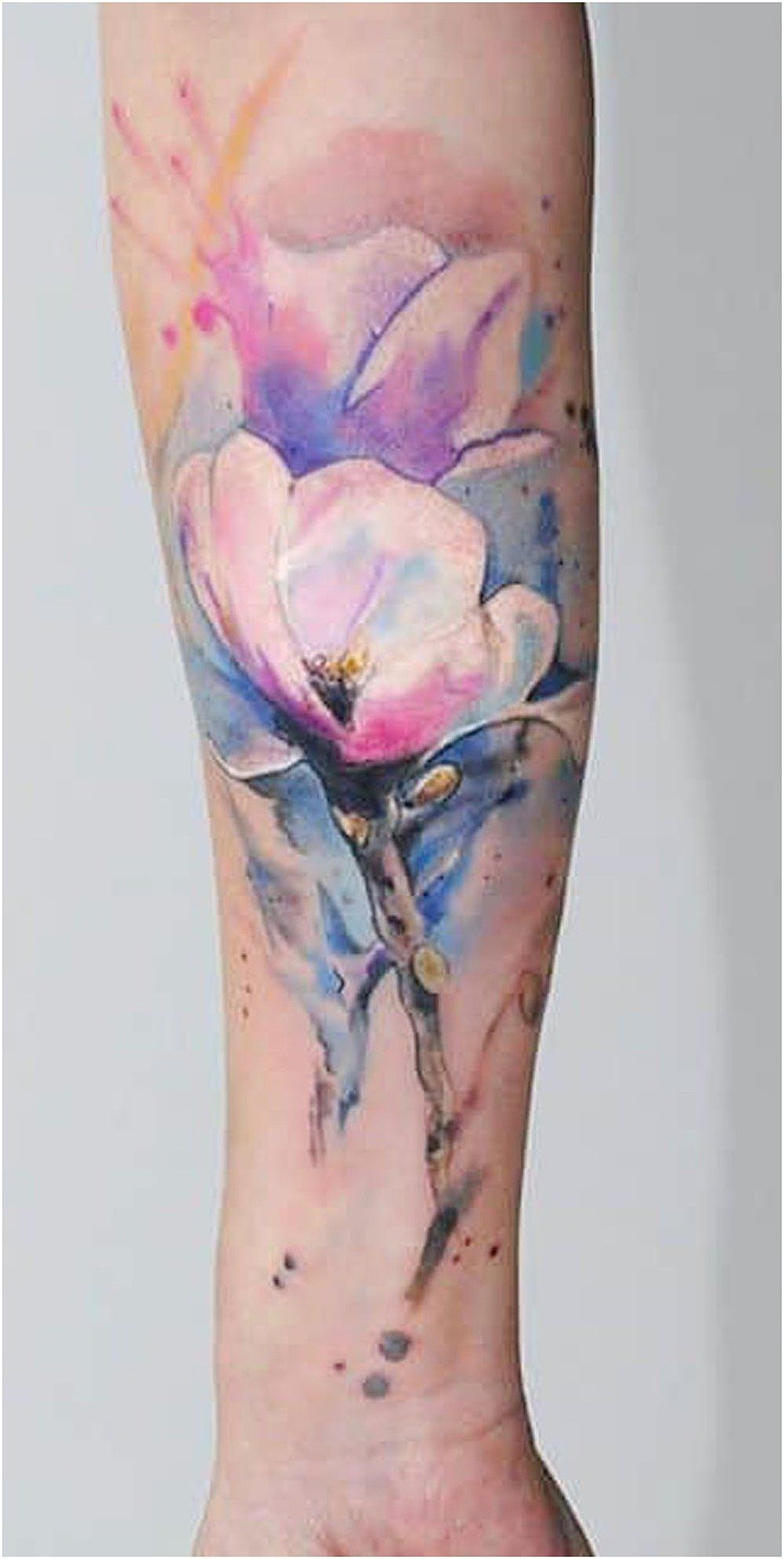 Tattoosleeve Armsleevetattoo Beautiful Watercolor Jasmine Flower