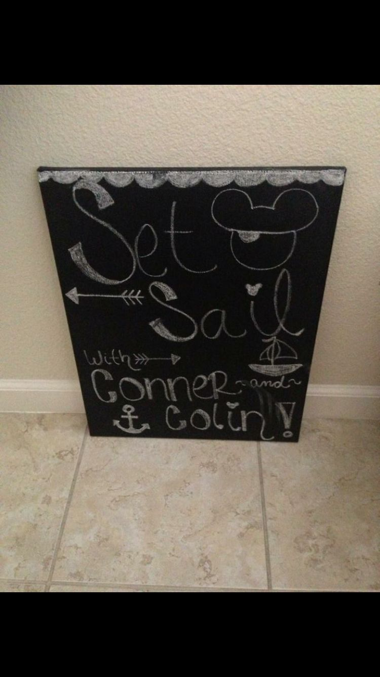 Painted A Canvas From Michaels With Chalkboard Paint Used Regular