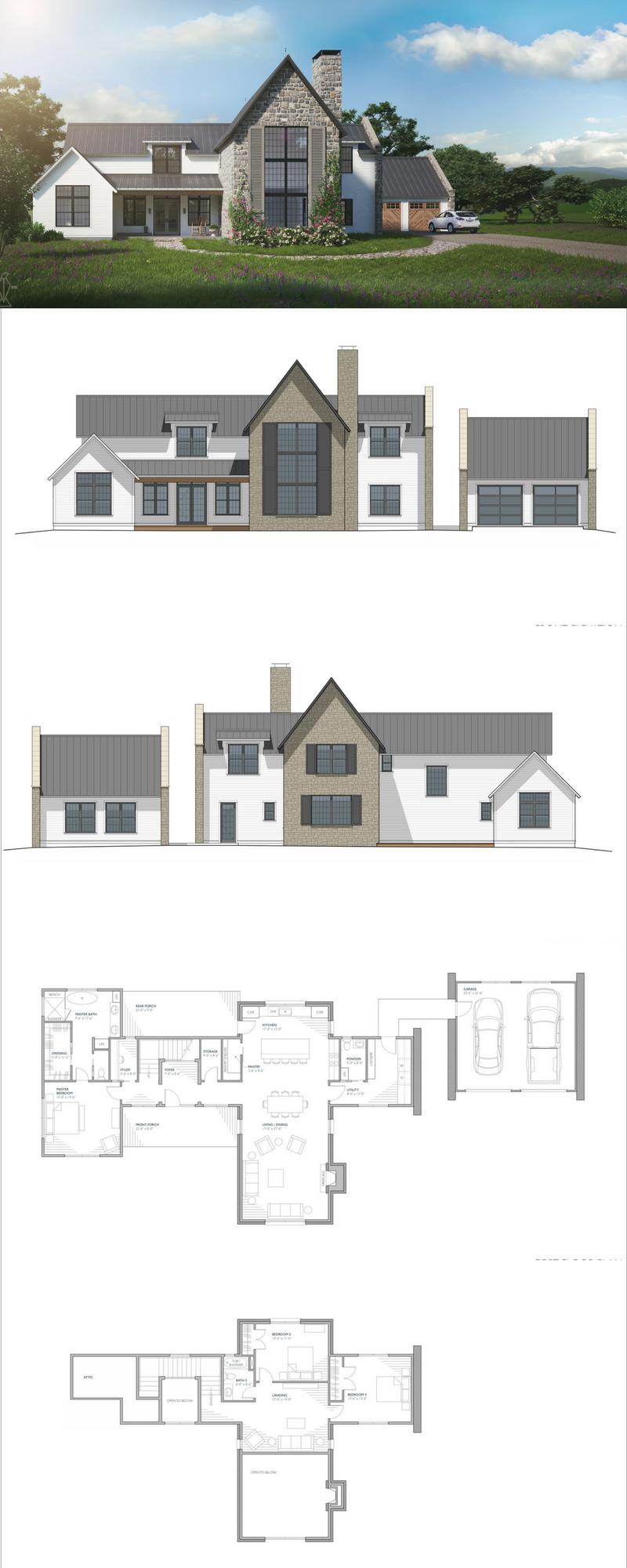 Aubrac Farmhouse Style House House Plans Farmhouse House Exterior