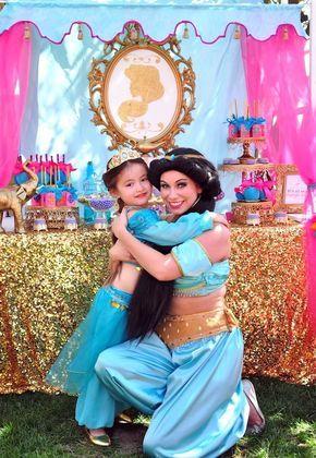 Girl Party supply Afro Puff Aladdin or Princess Jasmine baby girl or baby boy Arabian centerpiece