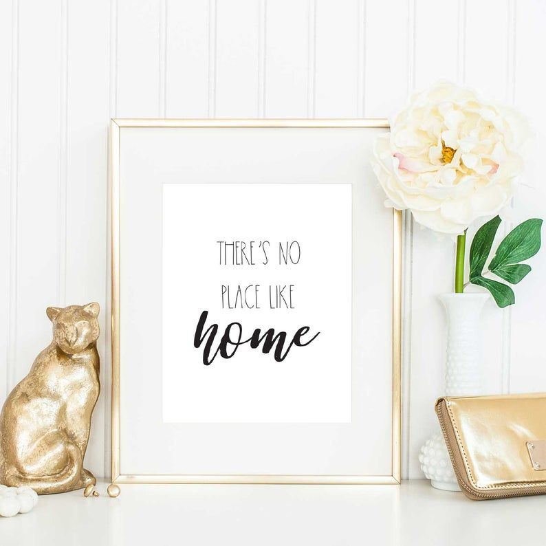 There's No Place Like Home Printable Wall Art for Modern