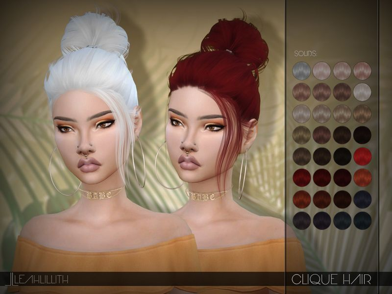 Clique Hair Found in TSR Category 'Sims 4 Female Hairstyles