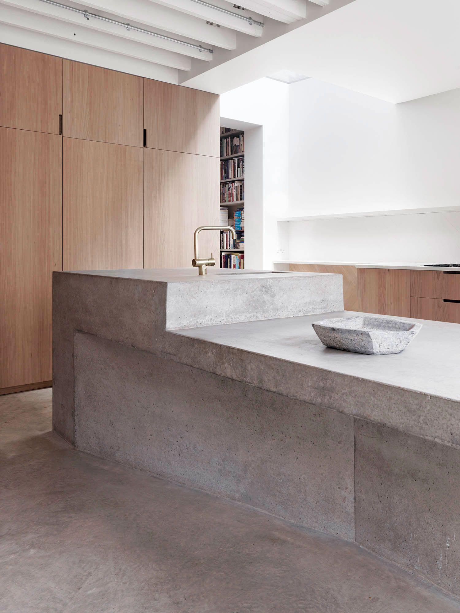 Grey Elm Cabinets Concrete Island Ingersoll Road Mclaren Excell
