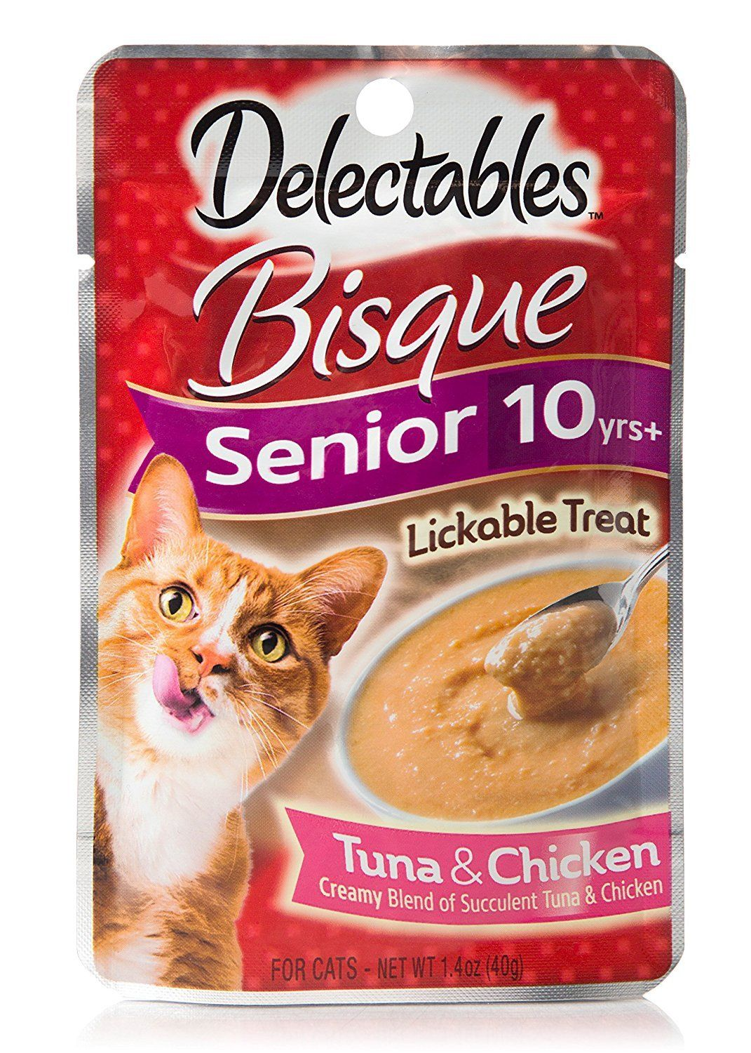 Delectables bisque senior 10 yrs with vitamins e and b