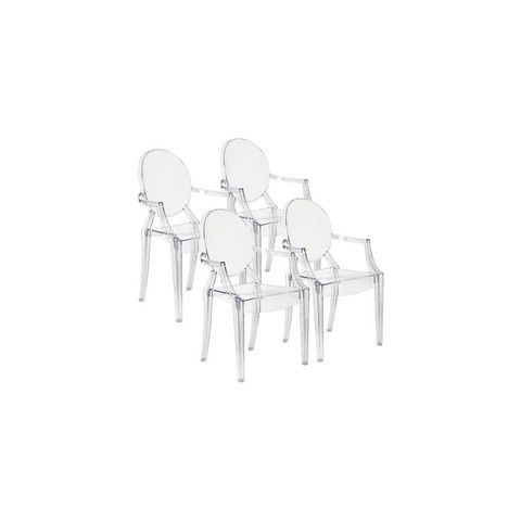 Lucite Acrylic Ghost Chairs Clear Dining Chairs Contemporary