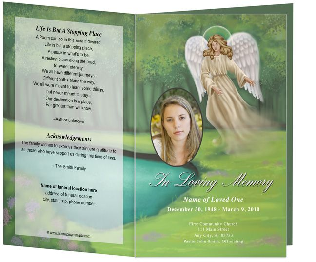 Obituary Programs or Funeral Order of Service Program Templates