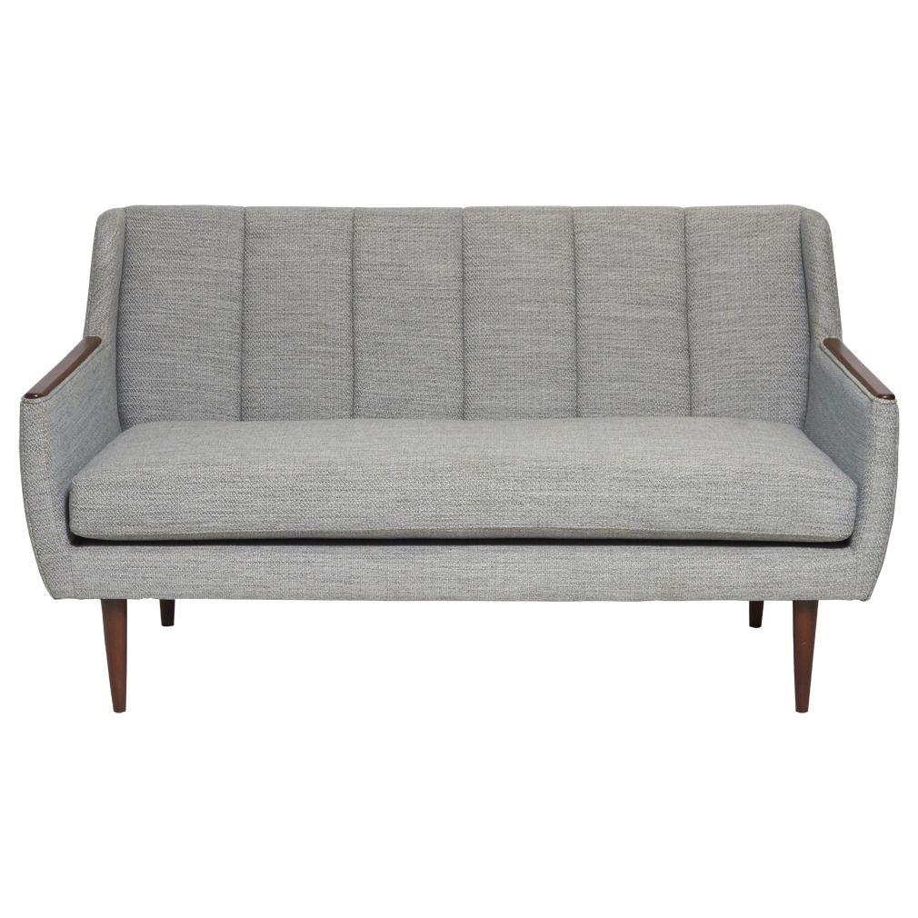 2 Seater Sofa Light Grey Matt Blatt
