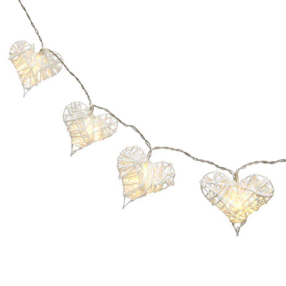 Wilko Wicker Heart String Lights White Ideas For The