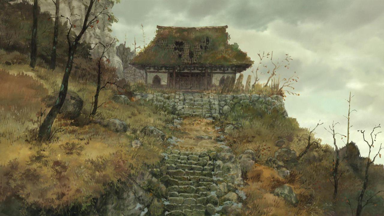 Old house sword of the stranger anime background