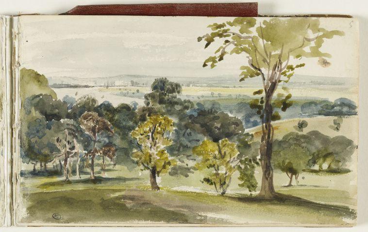 Eugene Delacroix Vue De La Campagne Anglaise Images D Art