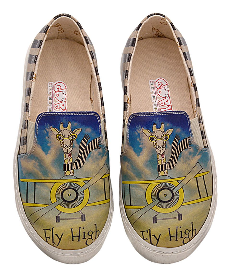Take a look at this Yellow & Blue 'Fly High' Slip-On Sneaker - Kids today!