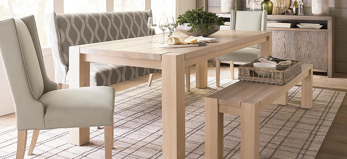 Bench Made Oak 90 Rectangular Dining Table In 2019