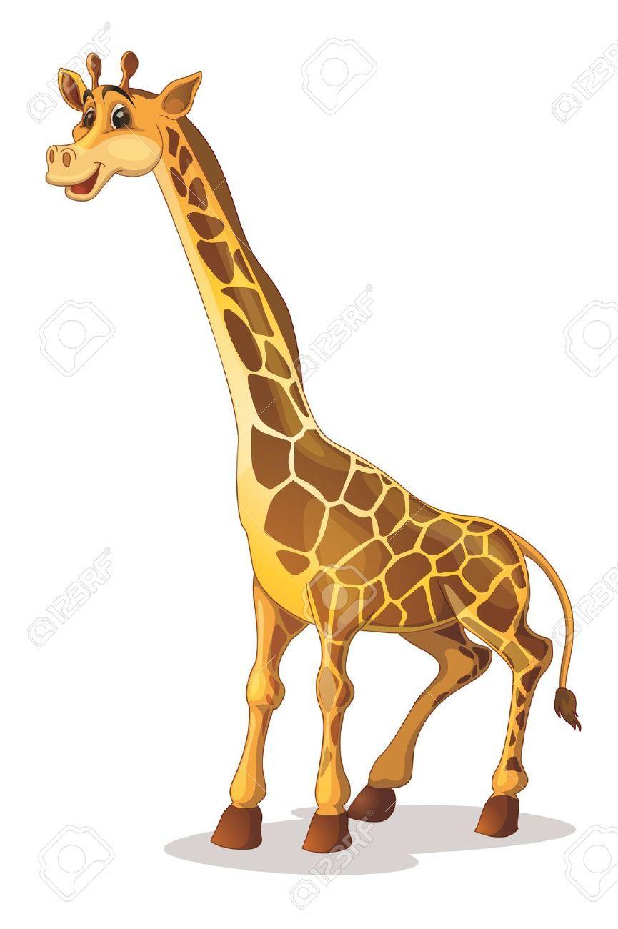 giraffe stock vector illustration and royalty free giraffe clipart rh pinterest com free baby giraffe clipart free baby giraffe clipart