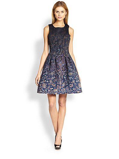 Cynthia Rowley Printed A Line Dress Saks Com Dresses