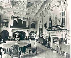 The Durbar Room at Osborne House taken in the 1890s when