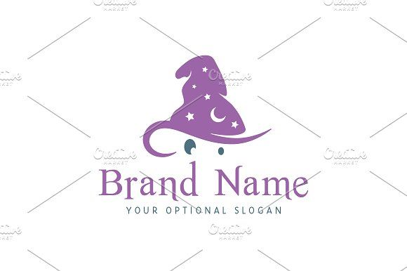 For sale. Only $29 - game, wizard, hat, magic, star, dream, magician, mysterious, secret, mascot, spell, purple, memorable, simple, fun, sorcerer, pointy, cover, disguise, mage, magical, effect, fireworks, illusion, logo, design, template,