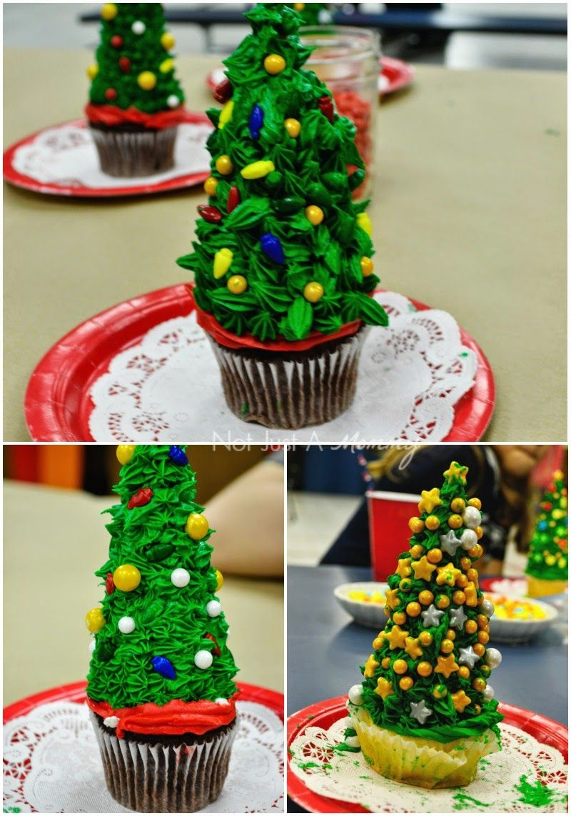 Christmas Tree Cupcake Toppers with @sweetworks candy