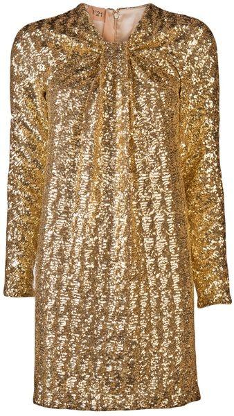 no 21 Knot Front Sequin Dress