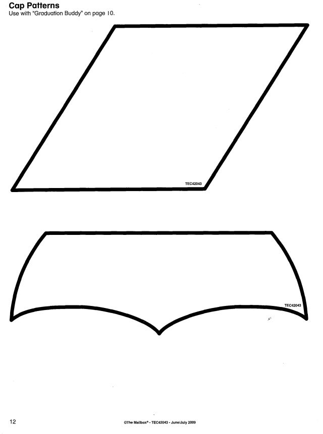 graduation cap pattern a4