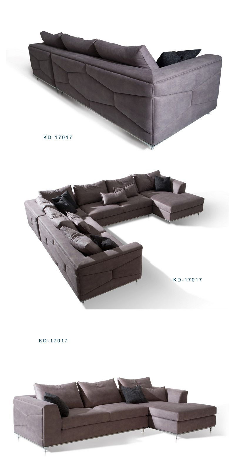 High Quality Luxury Contemporary Modern Sectional Sofa With Pattern Micro Fiber Cocheenfurniture Tuftedsofa Softsofa Contemporarysofa Modernsofa