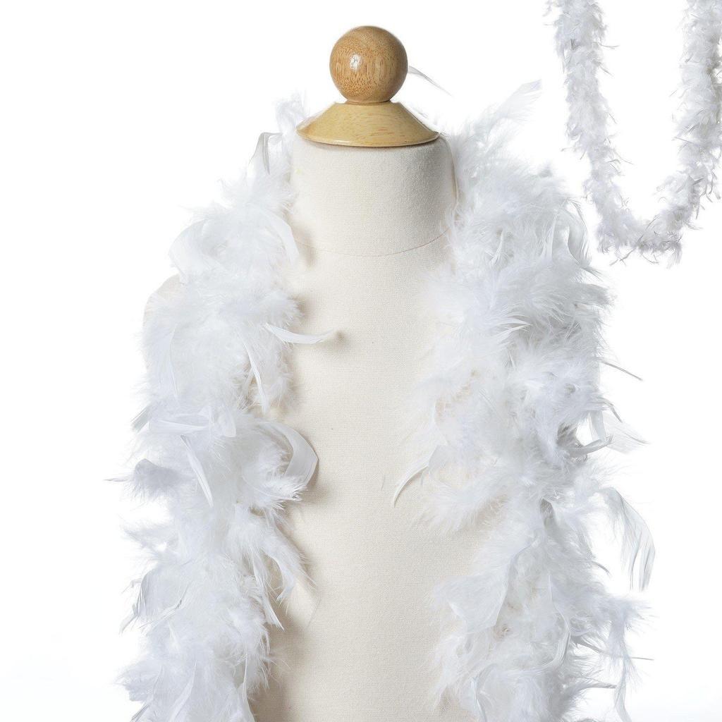 Lush Chandelle Turkey Boas White 2 Yards 50g Dress Gift Costume Gift Large Feathers
