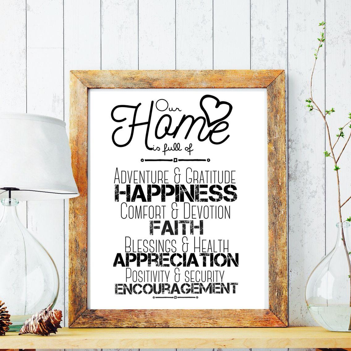 Inspirational Quotes For Home Decor